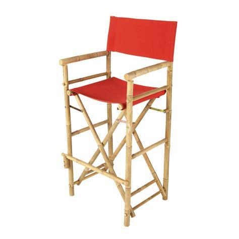 maison du monde chaise de bar chaise de bar de jardin en tissu et bambou robinson