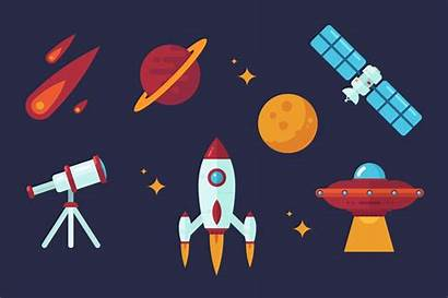 Space Vector Clip Flat Illustration Illustrations Drawing