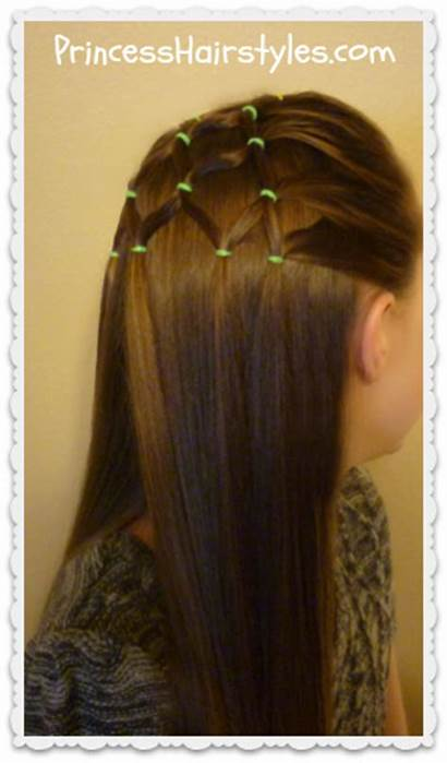 Tree Christmas Hairstyle Elastic Hairstyles Princess Holiday