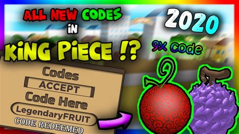 You are able to get them listed here otherwise you. *9x Code* ALL NEW CODES in King Piece (Alpha 9) [2020 ...