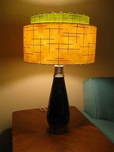 Mid Century Vintage Style 2 Tier Fiberglass Lamp Shade Modern