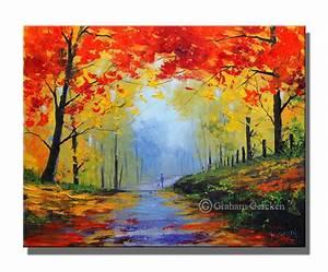 Paysage de peinture a l39huile arbres automne peinture for Toute les couleurs de peinture 0 peinture amour dautomne