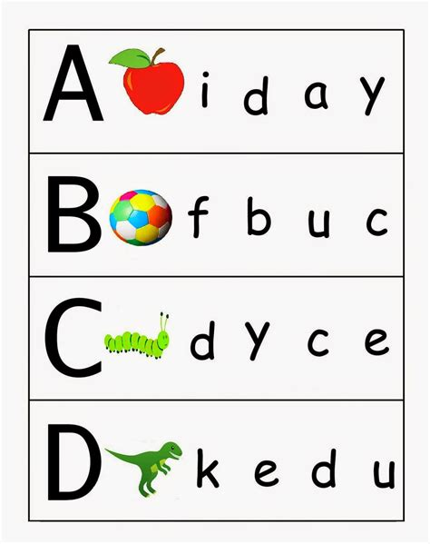 kindergarten worksheets match and lower