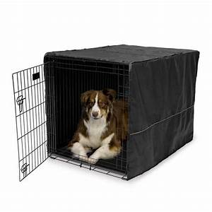 Dog kennel covers to settle your pet shop now for crate for How to soundproof a dog kennel