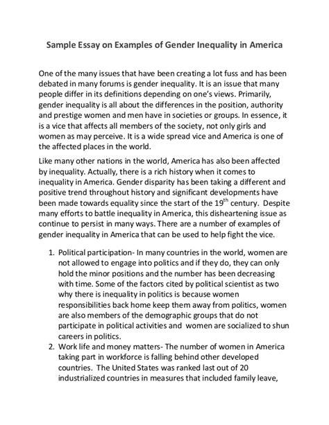 Gender equality persuasive essay