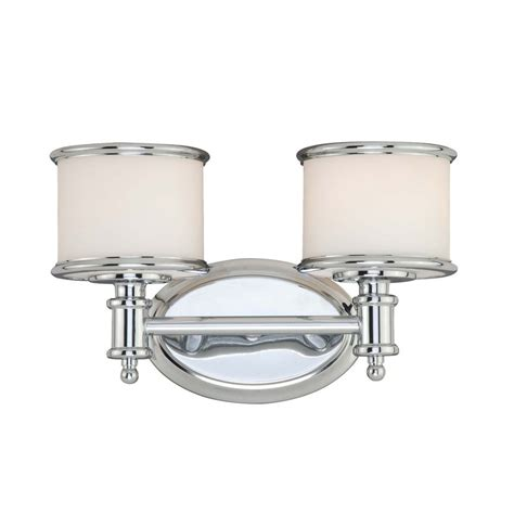 bronze bathroom vanity lighting shop cascadia lighting carlisle 2 light 8 in chrome drum