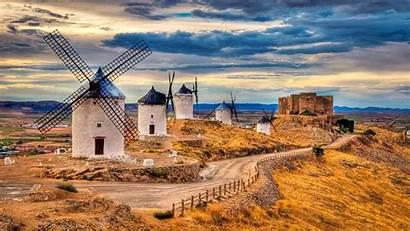 Spain Toledo Wallpapers Amazing Windmill Desktop Windmills