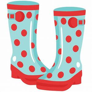 Rainboots SVG cutting file for scrapbooking cute cut files ...