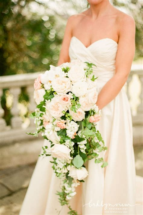 Hot Wedding Trend Cascading Bouquets Pretty Happy Love