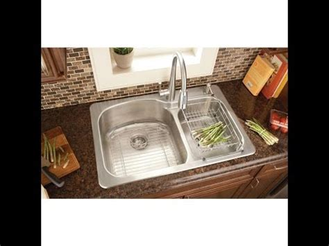 how to install stainless steel kitchen sink kitchen sink installation glacier bay top mount stainless 9455