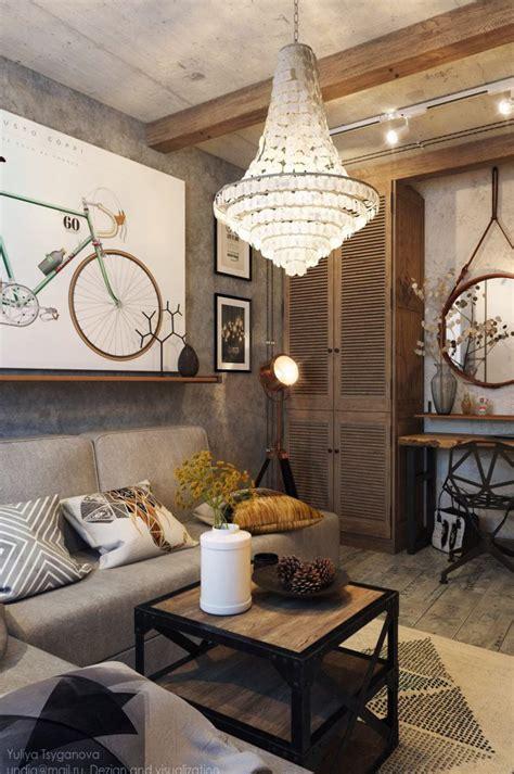 cozy industrial living room design  grey tones digsdigs