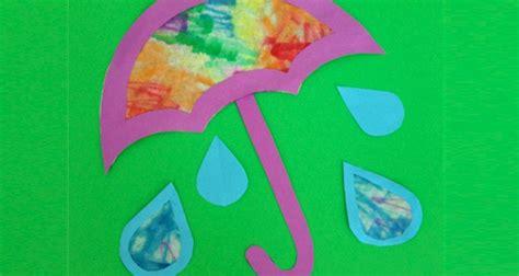 april showers bring  flowers craft  kids