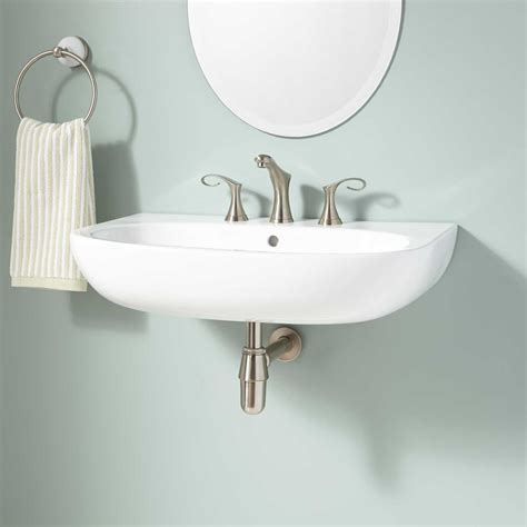 Signature Hardware Oconto Porcelain Wall Mount Bathroom
