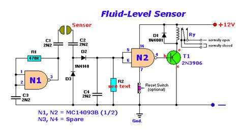 Simple Fluid Level Sensor Circuit Electronic