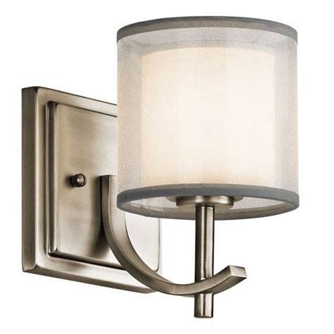 antique pewter one light wall sconce kichler 1 light