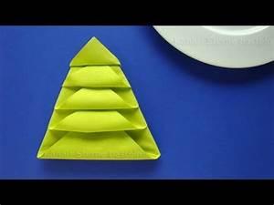Tannenbaum Selber Basteln : servietten falten weihnachten tannenbaum als weihnachtsdeko selber machen tischdeko youtube ~ Yasmunasinghe.com Haus und Dekorationen