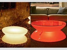 Plastic Led Coffee Table Round Wine Tea End Tables For Bar