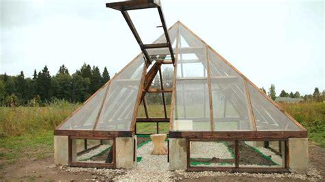 pyramid greenhouse  moving door youtube