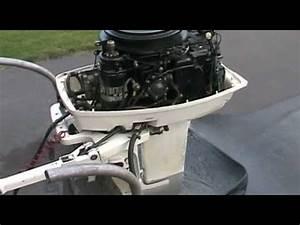 1988 Johnson Outboard Motor 30 Hp Idling