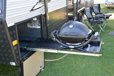 stainless steel tables premium bbq slide out system suits weber baby q in a