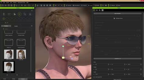 character creator  tutorial mesh editing