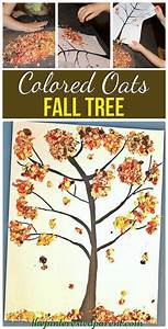 Colored Oats Fall Tree Craft – The Pinterested Parent