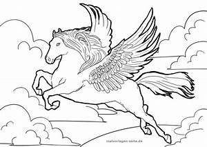 Malvorlage, Pegasus