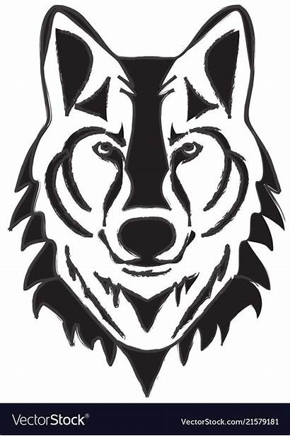 Wolf Face Clipart Minimalist Silhouette Clipground Head