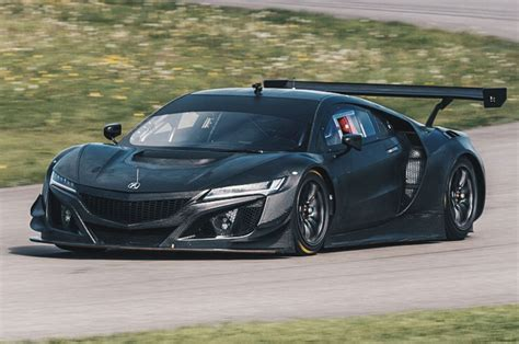 drool over the acura nsx gt3 s exposed carbon fiber bodywork