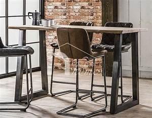 Table Haute Industrielle : 7 best table de bar images on pinterest glass tray ~ Melissatoandfro.com Idées de Décoration