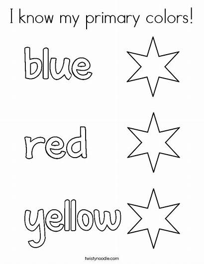 Coloring Primary Colors Know Built California Usa