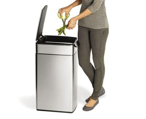 poubelle cuisine etroite simplehuman 40 litres poubelle étroite à touch bar