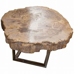 petrified wood slab table for sale at 1stdibs With petrified wood coffee table for sale