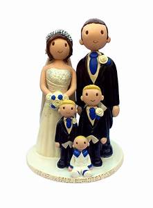 Wedding Cake Toppers Hand Made, Personalised Ceramic Cake