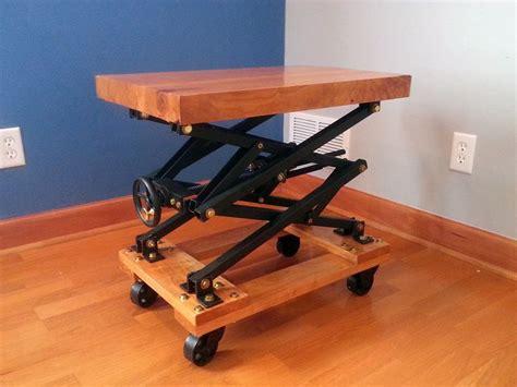 images  scissor lift table  pinterest