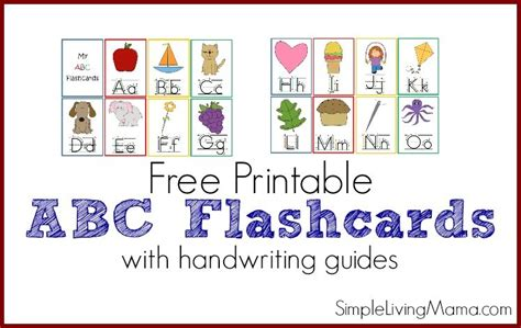 printable abc flashcards  preschoolers simple living mama