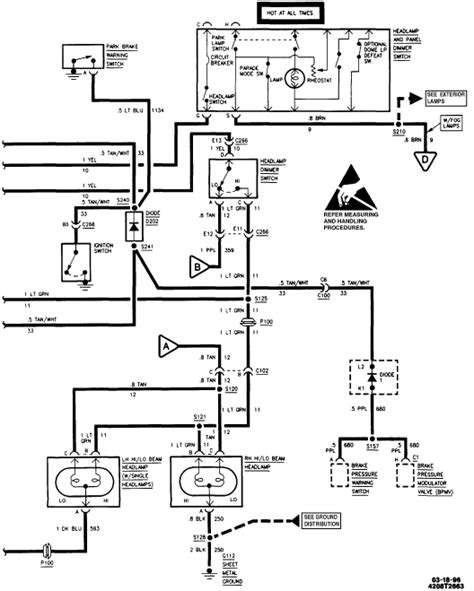 1996 Chevy Corsica Wiring Diagram by Where Is The Headlight Relay Located On A 1996 Chevy Suburban