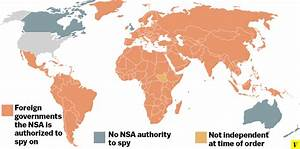 Map: The 193 foreign countries the NSA spies on and the 4 ...