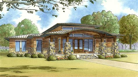 modern home plan  wrap  porch mk architectural designs house plans