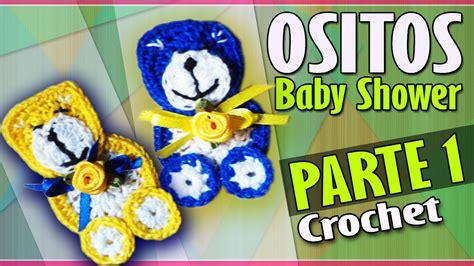 OSITO Parte 1 Recuerdo Baby Shower Tejido a Crochet