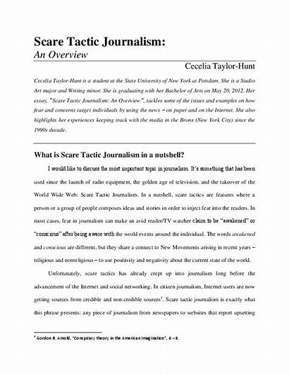Scare Tactic Journalism Taylor Cecelia Academia