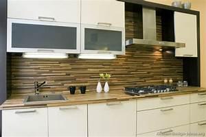 Pictures of kitchens modern white kitchen cabinets for Modern white kitchen backsplash ideas