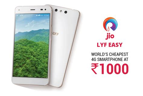 reliance jio lyf easy world s cheapest 4g smartphone versus by compareraja