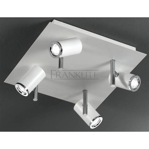 franklite spot8924 flush white bathroom ceiling light at