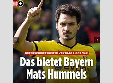 Mats Hummels to leave Borussia Dortmund to rejoin Bayern