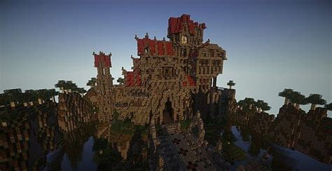 castle dravulkan minecraft building