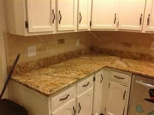 Mac s before after solarius granite countertop for Granite countertop and backsplash