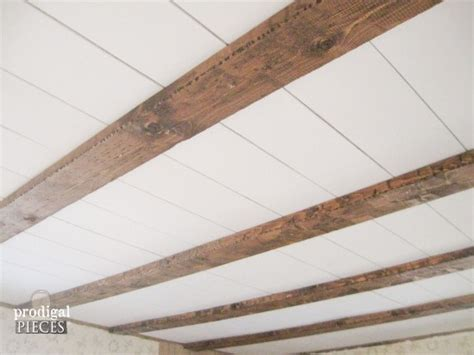 faux barn beam ceiling master bedroom remodel prodigal