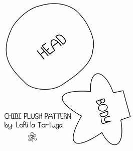 chibi plush pattern by lori la tortuga on deviantart With felt plushie templates