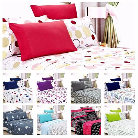 egyptian comfort 1800 count 6 piece printed bed sheet set